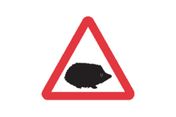 Government Unveils New Hedgehog Road Signs